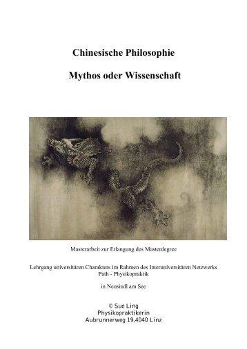 Chinesische Philosophie - Mythos oder Wissenschaft ... - PATH Praktik