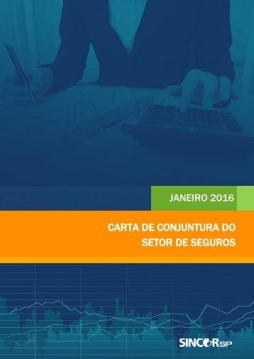 CARTA DE CONJUNTURA DO SETOR DE SEGUROS