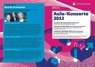 Aula-Konzerte 2012 - Kantonsschule Solothurn