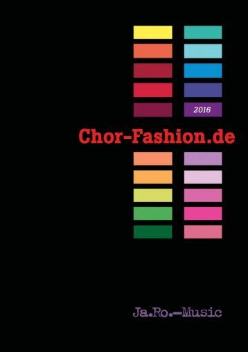 Chor-Fashion Katalog 2016