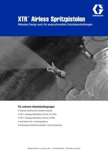 XTR™ Airless Spritzpistolen - Graco