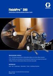 300686G , FinishPro 390 Elektrisches luftunterstütztes Airless-Gerät
