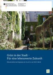 Grün in der Stadt − Für eine lebenswerte Zukunft