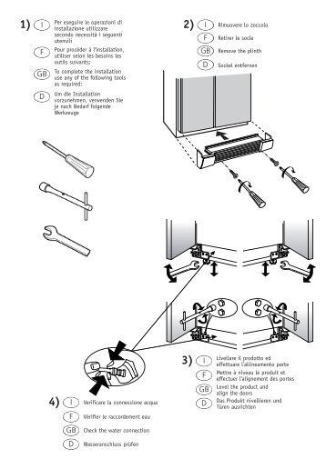 KitchenAid 20RB-D3L A+ - Side-by-Side - 20RB-D3L A+ - Side-by-Side FR (858644511020) Guide d'installation