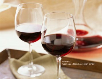 8. Wine List - Washington State Convention Center