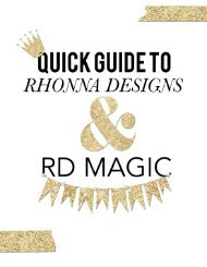 Quick Guide to Rhonna Designs and RD Magic App