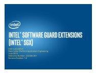 (Intel® SGX)