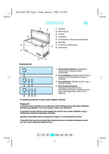 KitchenAid ZC 265 - Freezer - ZC 265 - Freezer HU (850793910000) Guide de consultation rapide