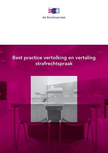 Best practice vertolking en vertaling strafrechtspraak