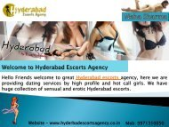 Make your Life More Excited with Stunning Hyderabad Escorts