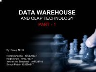 DATA WAREHOUSE - Department of Computer Science