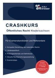 Crashkurs Öffentliches Recht Niedersachsen - Leseprobe