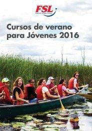 Cursos de verano para Jóvenes 2016