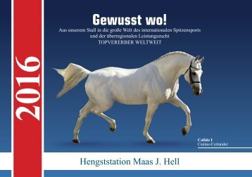 Hengstkatalog der Hengststation Maas J. Hell 2016