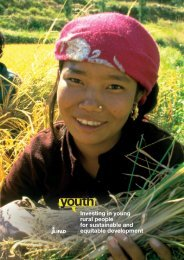 Investing in young rural people for sustainable and equitable development