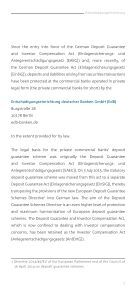 The German private commercial banks' statutory deposit guarantee and investor compensation scheme - Page 5