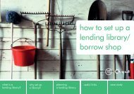 how to set up a lending library/ borrow shop