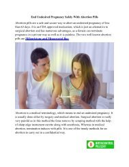 End Undesired Pregnancy Safely With Abortion Pills