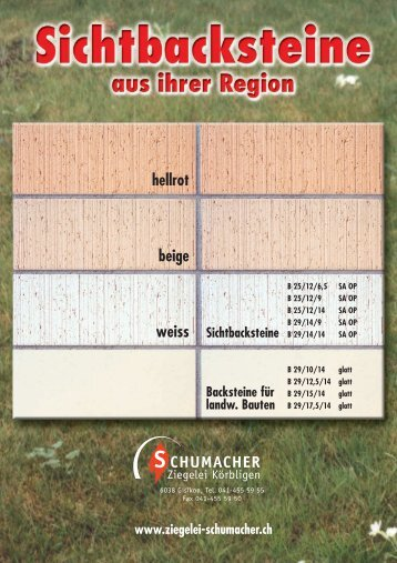 hellrot beige weiss - Ziegelei Schumacher