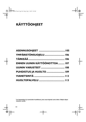 KitchenAid 201 237 45 - Oven - 201 237 45 - Oven FI (857922001000) Mode d'emploi