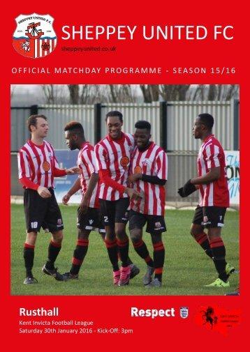 30-01-2016 Sheppey United -v- Rusthall