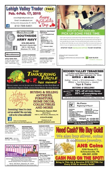 Lehigh Valley Trader February 4-February 17, 2016 issue