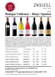 Bodegas Valdemar – Rioja | Spanien