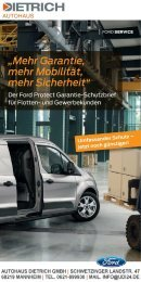 Autohaus Dietrich   Ford Garantie-Schutzbrief fuer Flotten- und Gewerbekunden