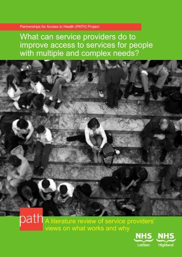 What can service providers do to improve access ... - The PATH project