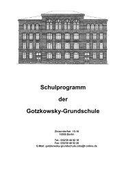 Schulprogramm der Gotzkowsky-Grundschule