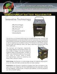 GENESIS FORKLIFT BATTERY REJUVENATOR Innovative ...