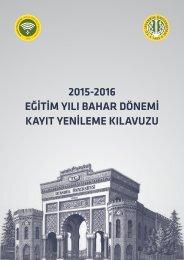 2015-2016 EĞİTİM YILI BAHAR DÖNEMİ KAYIT YENİLEME KILAVUZU
