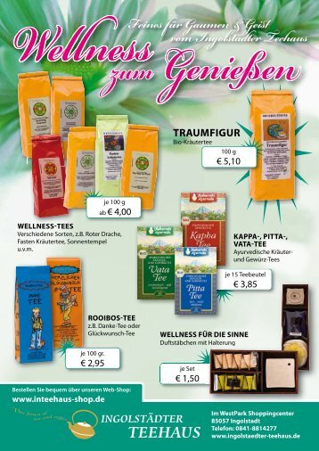 F ines Gaume & Gei vo I go stä te Tee aus - beim Ingolstädter Teehaus
