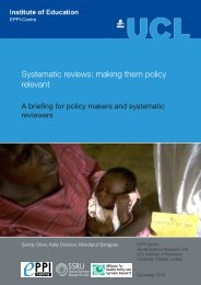 Systematic reviews making them policy relevant