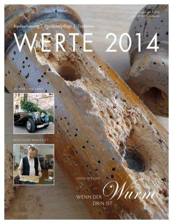 Magazin WERTE 2014 - 1. Ausgabe