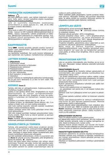 KitchenAid 800 150 69 - Freezer - 800 150 69 - Freezer FI (850729315020) Mode d'emploi