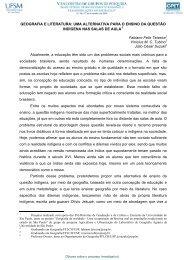 GEOGRAFIA E LITERATURA: UMA ALTERNATIVA PARA O ... - UFSM