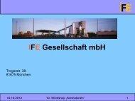 IFE Gesellschaft mbH - HS Anlagenbau