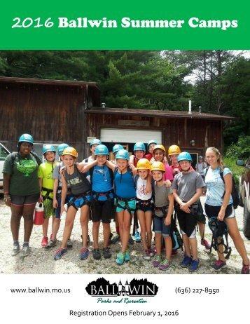 2016 Ballwin Summer Camps