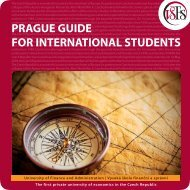 prague guide for international students - Vysoká škola finanční a ...