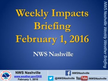 Weekly Impacts Briefing February 1 2016