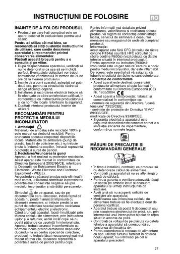 KitchenAid 20094677 - Fridge/freezer combination - 20094677 - Fridge/freezer combination RO (853921915600) Guide d'installation