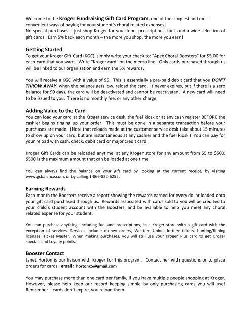 Kroger Gift Card Balance Check - Gift Ideas