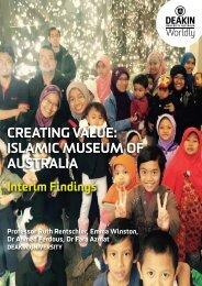 CREATING VALUE ISLAMIC MUSEUM OF AUSTRALIA
