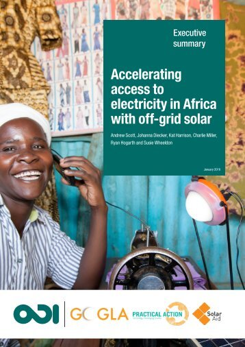 Accelerating access to electricity in Africa with off-grid solar