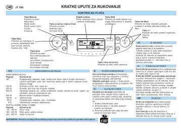 KitchenAid JT 355 WH - Microwave - JT 355 WH - Microwave HR (858735599290) Guide de consultation rapide