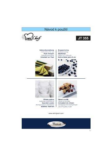 KitchenAid JT 355 WH - Microwave - JT 355 WH - Microwave CS (858735599290) Mode d'emploi