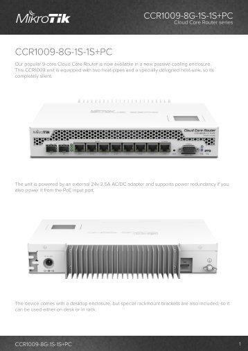 CCR1009-8G-1S-1S plusPC Brochure Mikrotik - mstream.com.ua