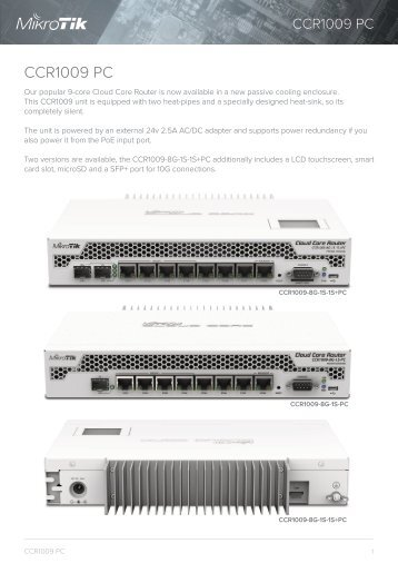 CCR1009-PC Brochure Mikrotik - mstream.com.ua