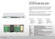 CCR1036-8G-2S plus Brochure Mikrotik - mstream.com.ua